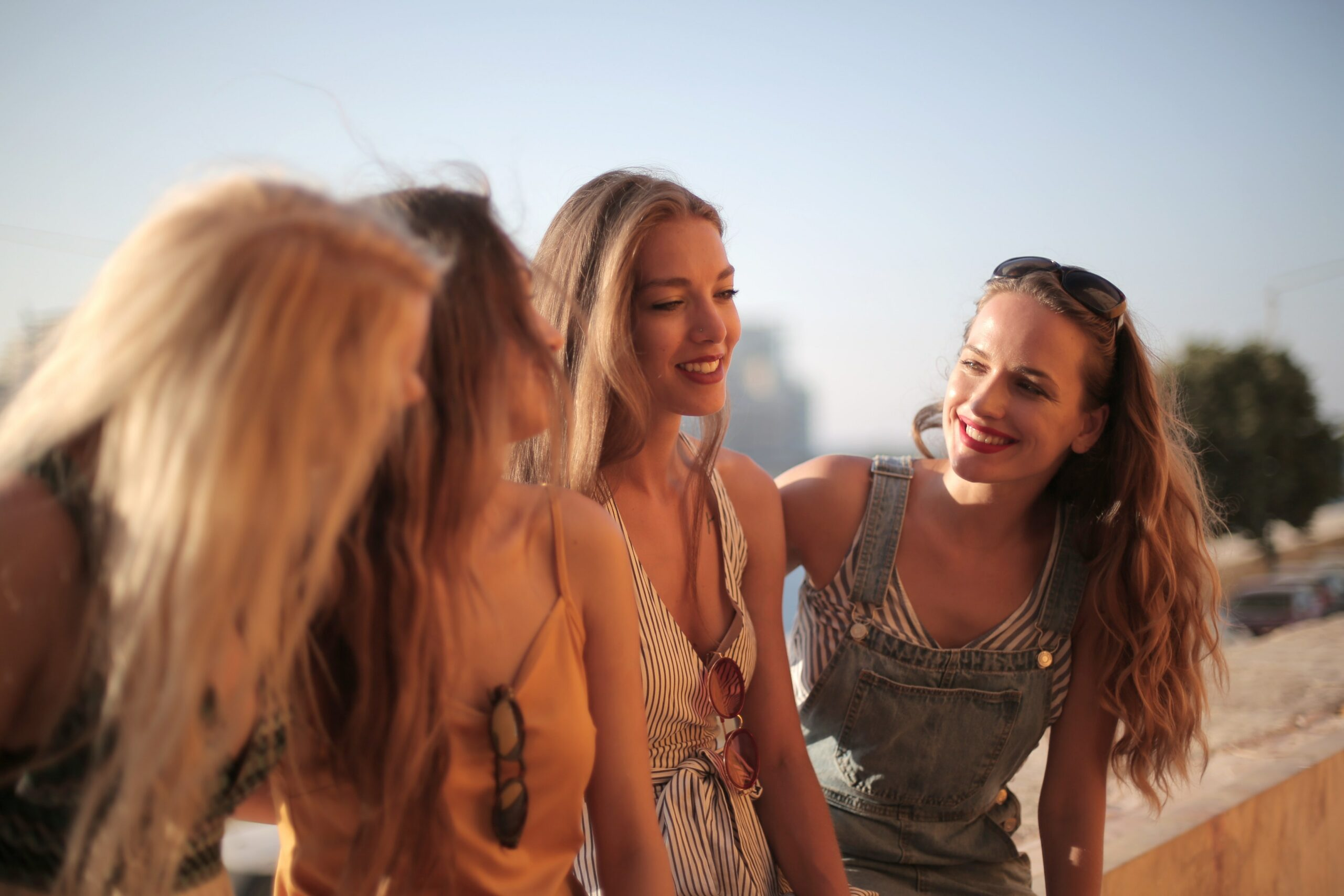 Four Happy Young Women